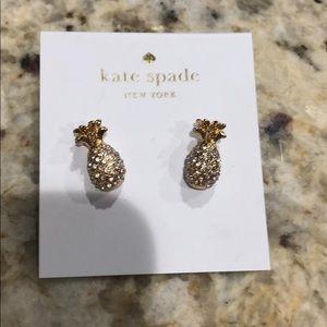 Brand new Kate Spade pineapple earrings